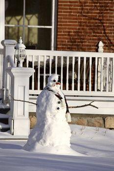 Snowman in Saskatchewan