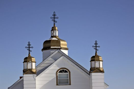 Ukranian Orthodox Church at Drifting River, Manitoba, Canada
