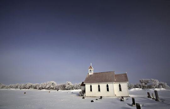 Saint Augusta Anglican Church in winter