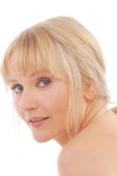 portrait of pretty blonde woman