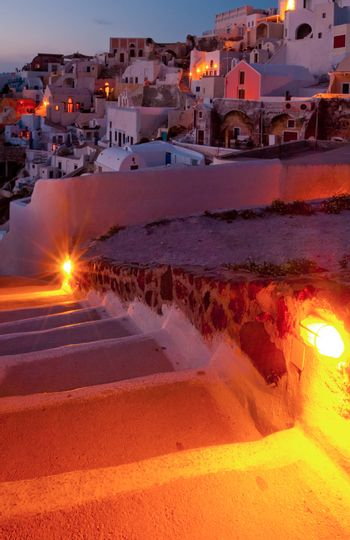 Towards the village of Oia