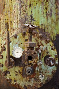 Rusty old machine
