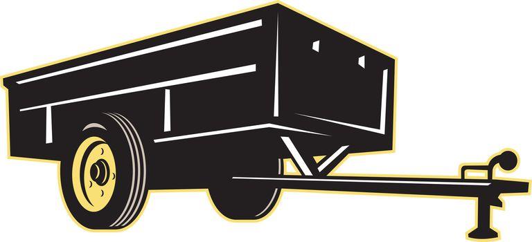 car garden utility trailer side