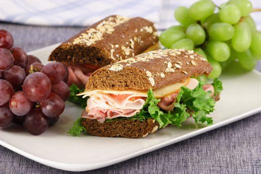 fresh nutritious sandwich