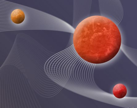 a 3d space themed background