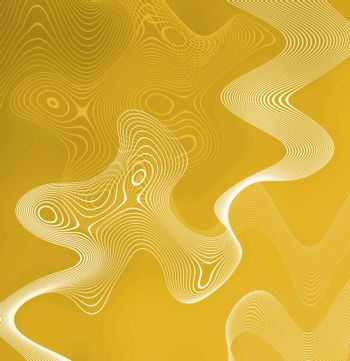 A free flowing yellow substance abstract background