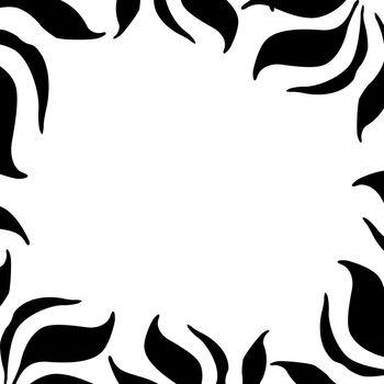 a black and white zebra / leaf border