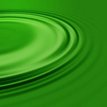 A pool of green liquid.