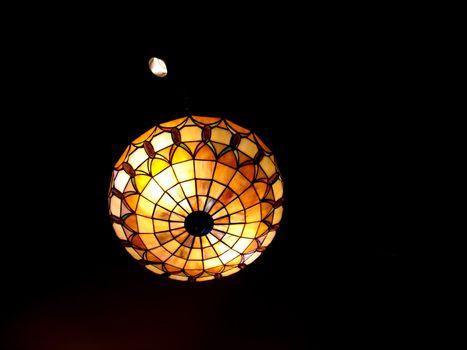 restaurant lighting - from below