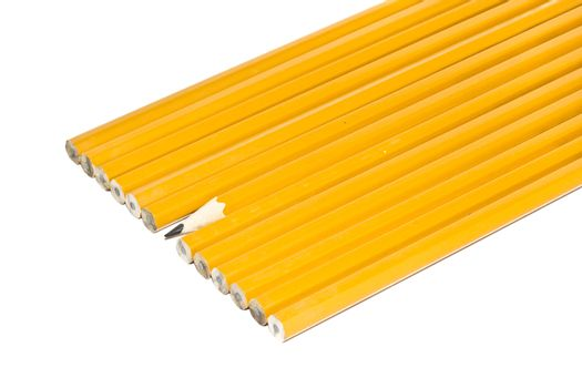 a sharp pencil sticking out form a croud of dull pencils