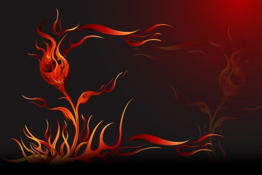 illustration of abstract fire background