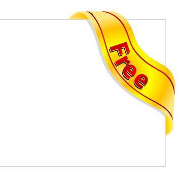 illustration of free tag on white background