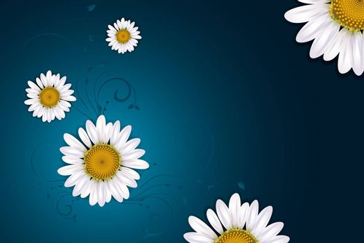 illustration of abstract floral background