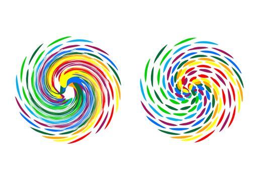 illustration of colorful logo on white background
