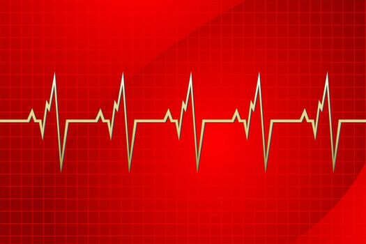 illustration of cardiology on abstract background