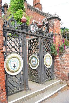 Wrought iron gates of sekford hospital