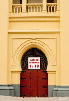 Bullfight arena entrance