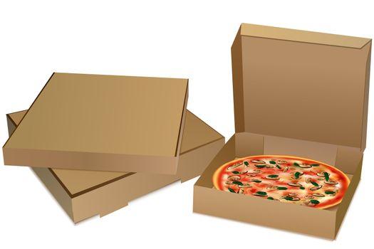 illustration of pizza on white background