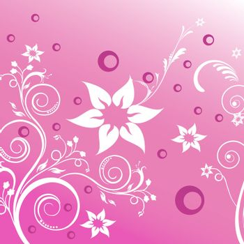 illustration of floral background on abstract background