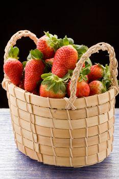 Strawberries inside a basket