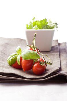 Tomato and Parsley on napkin