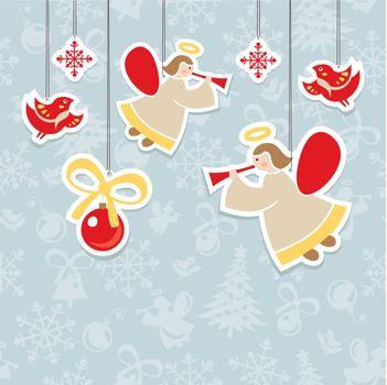christmas ornate vector card