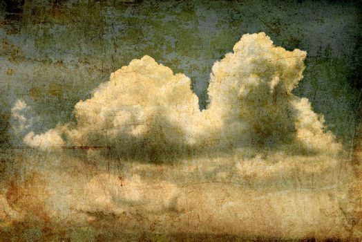 Grunge image background of cloud in the sky