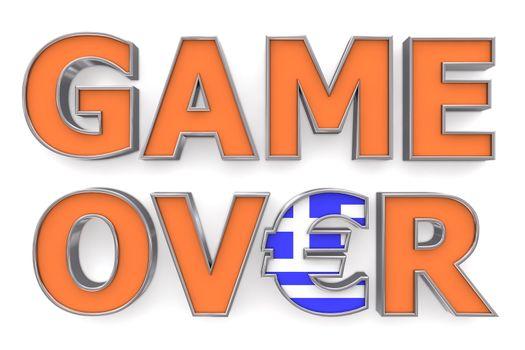 Greek Euro Game Over - One Euro Symbol