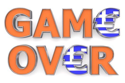 Greek Euro Game Over - Two Euro Symbols