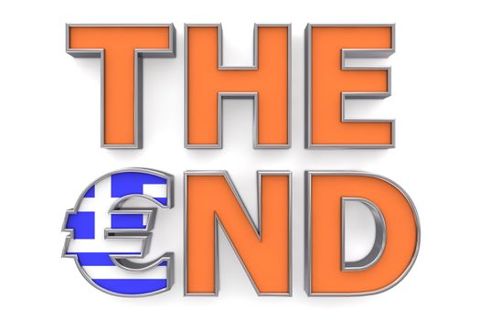 Greek Euro The End - One Euro Symbol