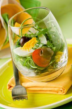 Mixed Salad inside a Glass