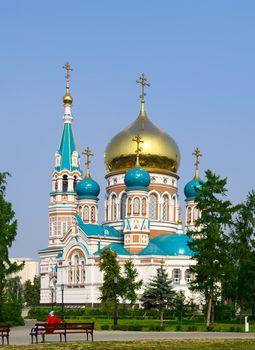 Uspenskiy Cathedral.Omsk.Russia