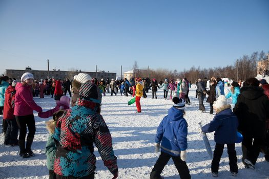 Festivities in Russia. Farewell to winter. Carnival