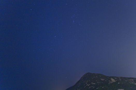 Amazing night with stars background