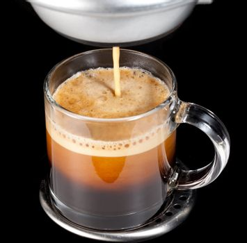 Expresso Coffee in glass cup