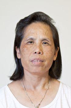 Portrait of a 50s senior Asian Woman