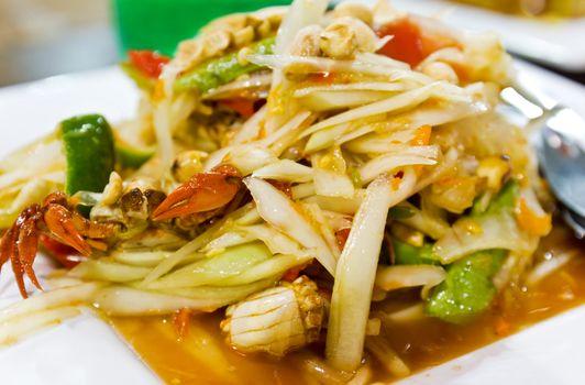 thai food / somtum