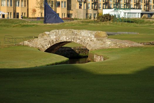 St-Andrews 18th hole bridge at the ancient golf course