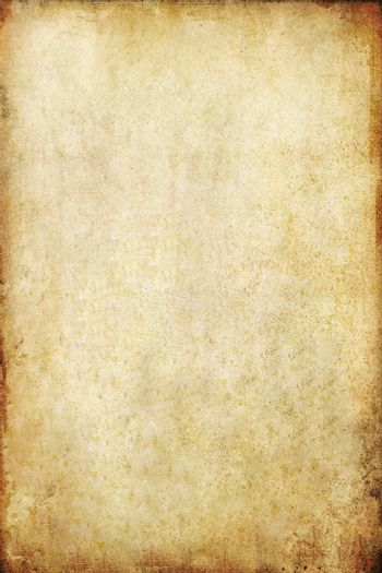 old grunge paper background with space