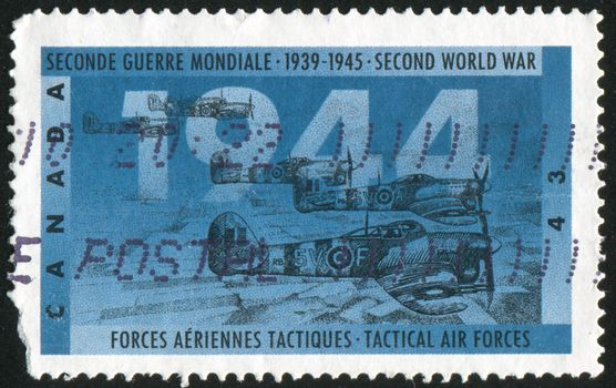 CANADA - CIRCA 1994: stamp printed by Canada, shows Tactical Air Forces, circa 1994