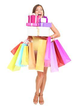 shopaholic shopping woman