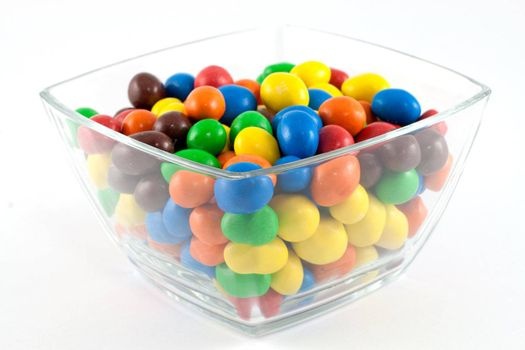 Colorful bonbons in a bowl
