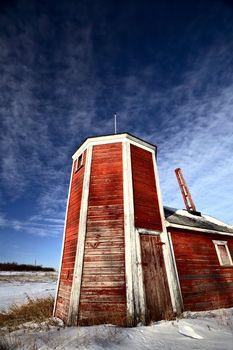 red barn odd shape in Girwin Saskatchewan