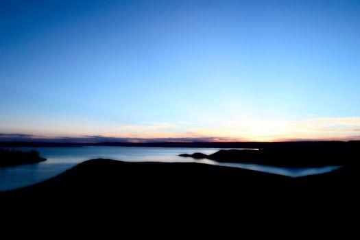 Sun set behind Lake Diefenbaker