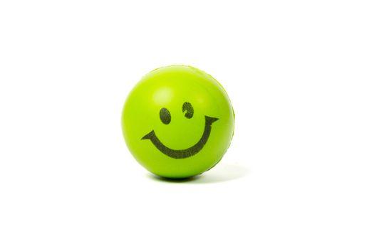 green smiley ball