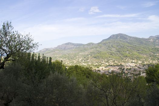 village between the mountains of Mallorca