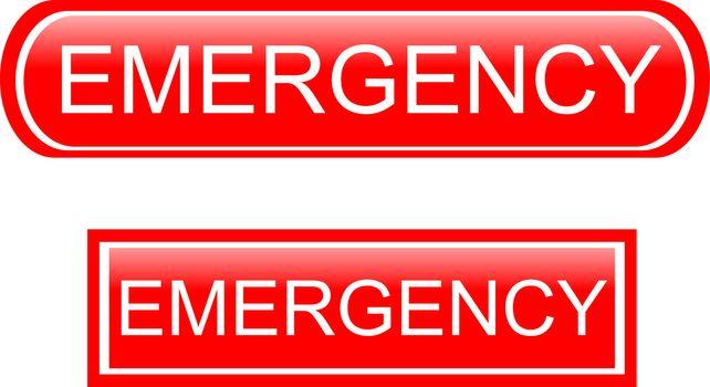 Emergency sign icon isolated on white background
