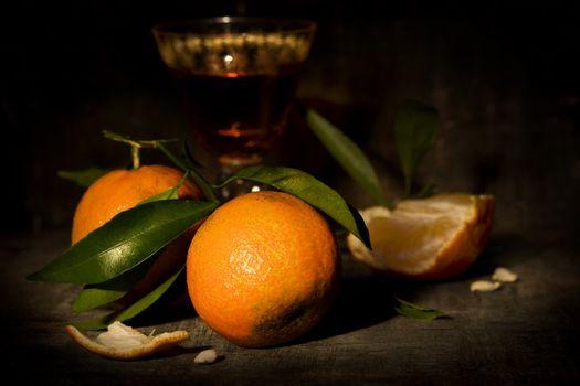 mandarins and liquor