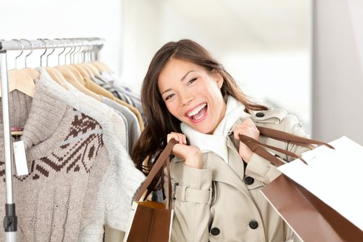 Shopper woman happy