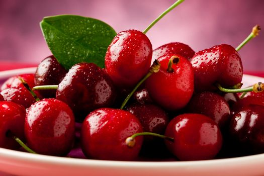 Plate with Cherries